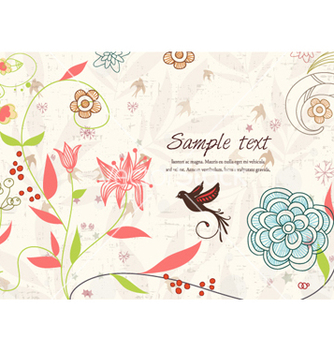 Free colorful floral background vector - Free vector #254427