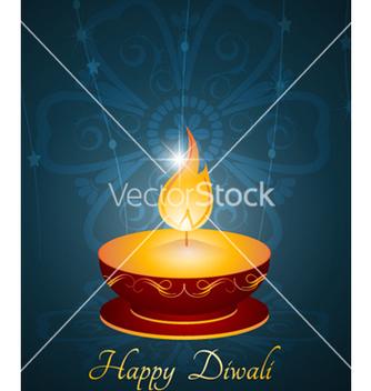 Free diwali greeting card vector - Kostenloses vector #254537