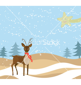 Free christmas greeting card vector - Kostenloses vector #254647
