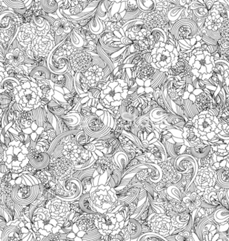 Free floral seamless pattern vector - Free vector #254797