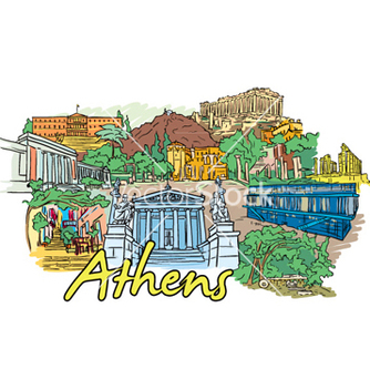 Free athens doodles vector - Free vector #254947