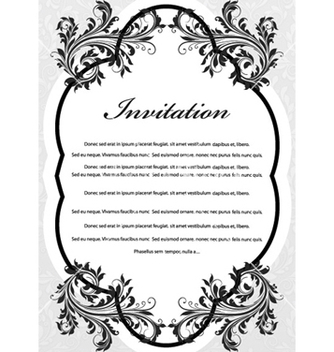 Free vintage invitation with floral vector - Free vector #254957