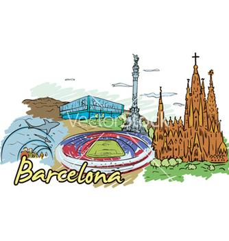 Free barcelona doodles vector - vector gratuit #254997