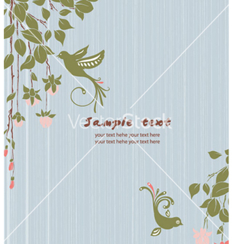 Free vintage floral background with birds vector - Kostenloses vector #255067