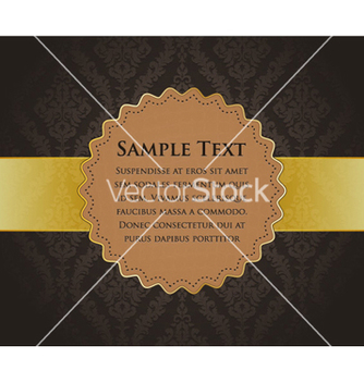 Free vintage gold label vector - Free vector #255367