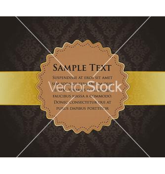 Free vintage gold label vector - Kostenloses vector #255367