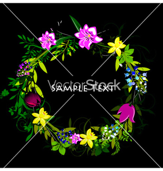 Free colorful spring floral frame vector - бесплатный vector #255517