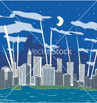 Free cartoon city vector - Free vector #255677