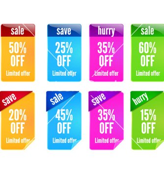 Free colorful banners set vector - Kostenloses vector #255757