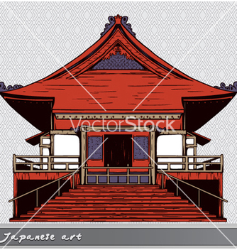 Free japanese temple vector - vector gratuit #255987