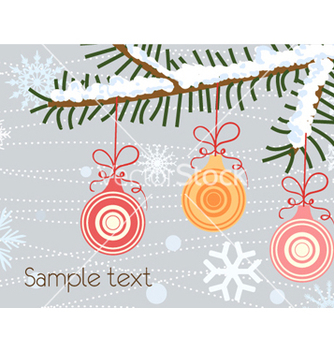 Free christmas greeting card vector - бесплатный vector #256007