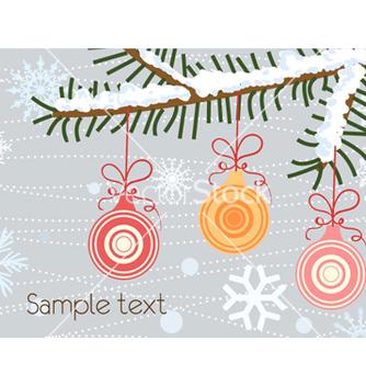 Free christmas greeting card vector - vector #256007 gratis