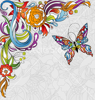 Free colorful abstract floral background vector - Free vector #256037