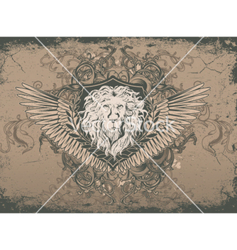 Free vintage background with lion head vector - Free vector #256317