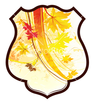 Free shield with floral vector - Kostenloses vector #256507