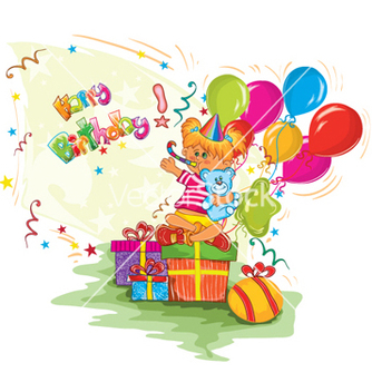 Free kids birthday party vector - Free vector #256577