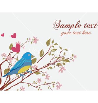 Free bird with floral vector - Kostenloses vector #256667