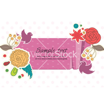 Free colorful floral frame vector - Kostenloses vector #256997