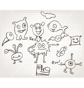 Free funny hand drawn doodles vector - Free vector #257007