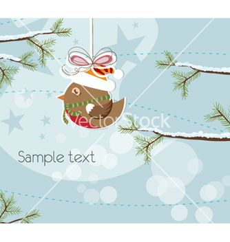 Free christmas greeting card vector - Kostenloses vector #257067