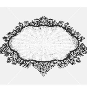 Free grunge floral frame vector - Free vector #257277