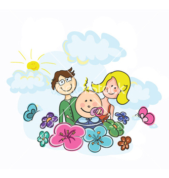 Free cartoon family vector - Free vector #257797