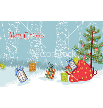 Free tree with presents vector - vector gratuit(e) #257817