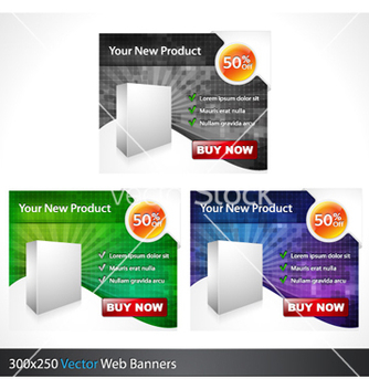 Free glossy banners set vector - Kostenloses vector #258007