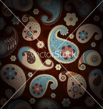 Free paisley seamless pattern vector - Kostenloses vector #258217
