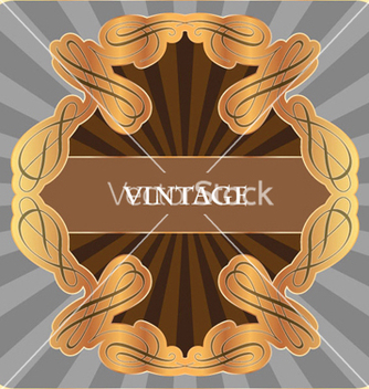 Free gold vintage label vector - Free vector #258387