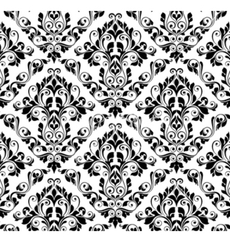Free damask seamless pattern vector - Kostenloses vector #258567