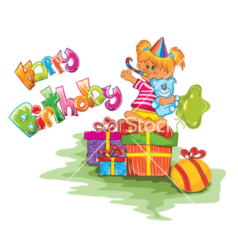 Free kids birthday party vector - Free vector #258657