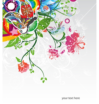 Free colorful floral background vector - Kostenloses vector #258767
