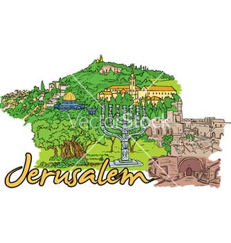 Free jerusalem doodles vector - Free vector #258817