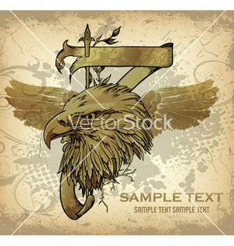 Free vintage emblem with eagle head vector - Free vector #258957