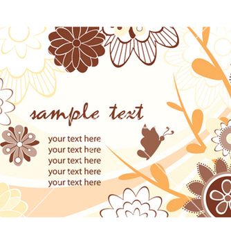 Free autumn floral background vector - Free vector #259027