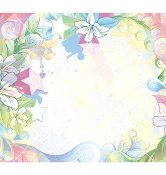 Free watercolor floral background vector - Free vector #259477