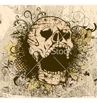 Free grunge background with skull vector - Kostenloses vector #259657