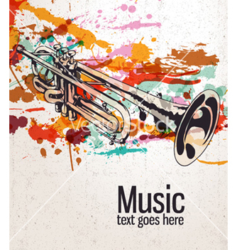 Free retro splatter music background vector - vector gratuit #259667