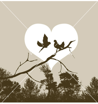 Free love birds vector - бесплатный vector #259897
