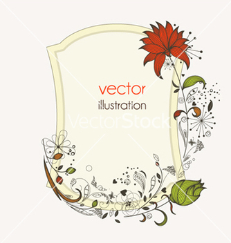 Free floral frame vector - Free vector #259987