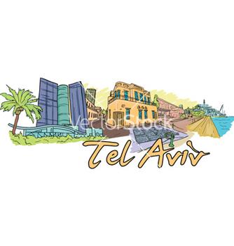 Free tel aviv doodles vector - vector #260047 gratis