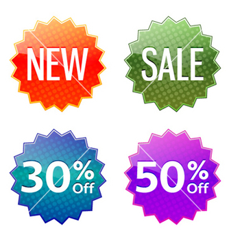 Free discount labels set vector - Free vector #260107