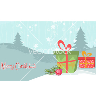 Free christmas background with presents vector - Kostenloses vector #260247