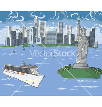 Free new york doodles vector - Free vector #260277