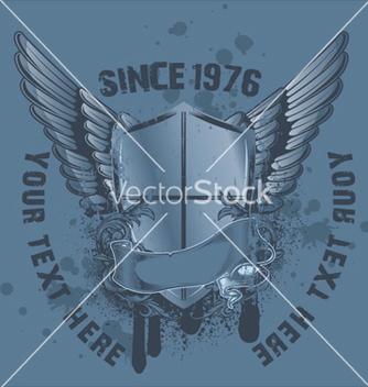 Free vintage emblem with shield vector - Kostenloses vector #260377