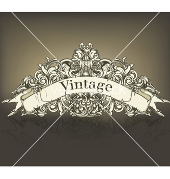 Free vintage floral with scroll vector - Free vector #260527