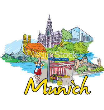 Free munich doodles vector - Free vector #260687