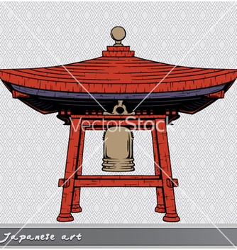 Free japanese bell shelter vector - Free vector #260767