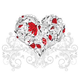 Free heart made of floral vector - Free vector #260817